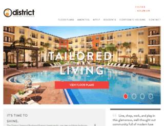 thedistrict.prospectportal.com screenshot