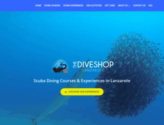 thediveshoplanzarote.com screenshot