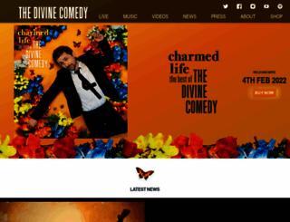 thedivinecomedy.com screenshot