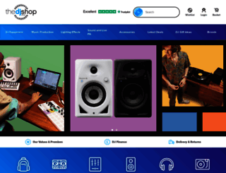 thedjshop.co.uk screenshot