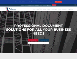 thedocumentwarehouse.com screenshot