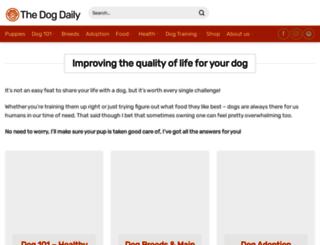 thedogdaily.com screenshot