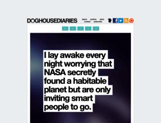 thedoghousediaries.com screenshot