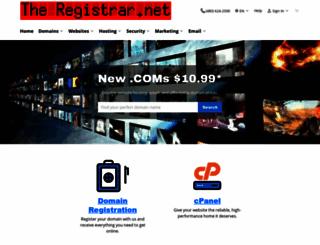 thedomainnameregistrar.com screenshot