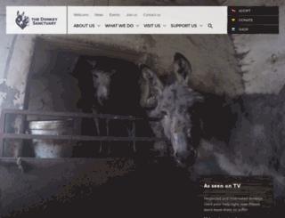 thedonkeysanctuary.org.uk screenshot
