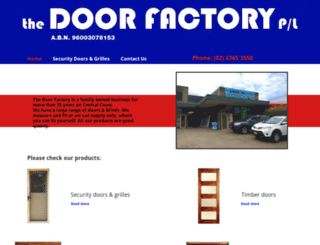 thedoorfactory.com.au screenshot
