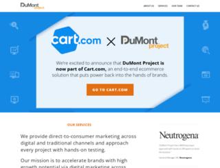 thedumontproject.com screenshot