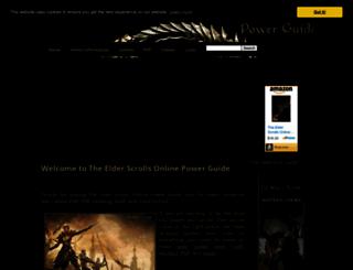 theelderscrollsonlinepowerguide.com screenshot