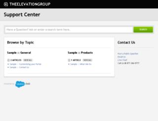 theelevationgroup.desk.com screenshot