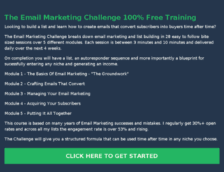 theemailmarketingchallenge.com screenshot