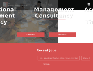 theemploymentpage.com screenshot