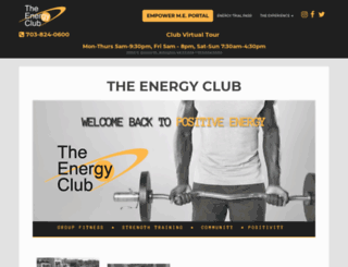 theenergyclub.com screenshot