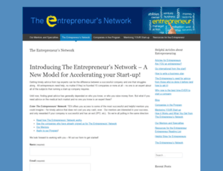 theentrepreneursnetworkdotcom.wordpress.com screenshot