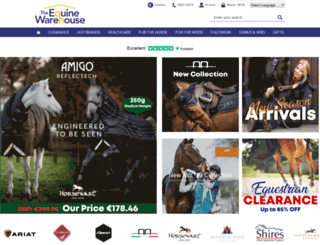 theequinewarehouse.co.uk screenshot