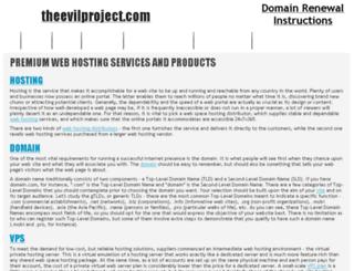 theevilproject.com screenshot