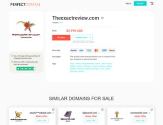 theexactreview.com screenshot