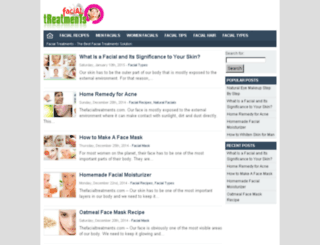 thefacialtreatments.com screenshot