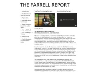 thefarrellreport.net screenshot