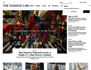 thefashionlaw.com screenshot