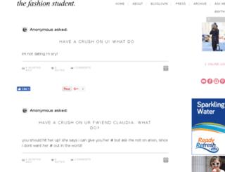 thefashionstudent.com screenshot