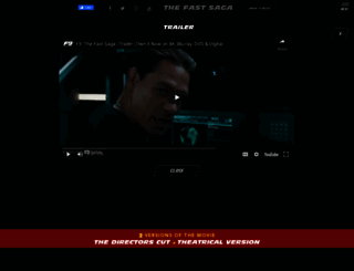 thefastandthefurious.com screenshot