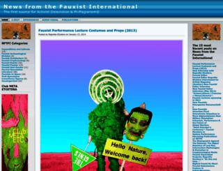 thefauxistinternational.wordpress.com screenshot
