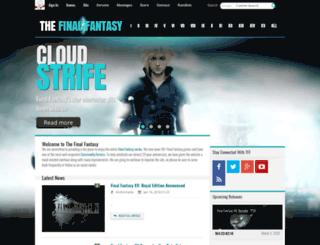thefinalfantasy.com screenshot