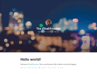 thefinalfrontier.wordpress.com screenshot
