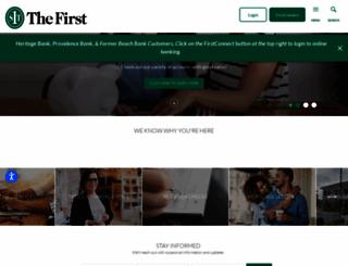 thefirstbank.com screenshot