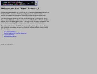 thefirstbannerad.com screenshot