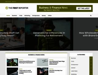 thefirstreporter.com screenshot