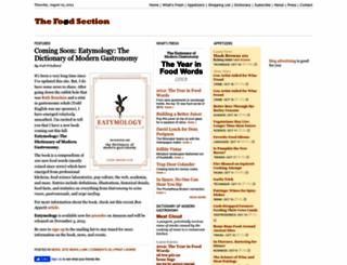 thefoodsection.com screenshot