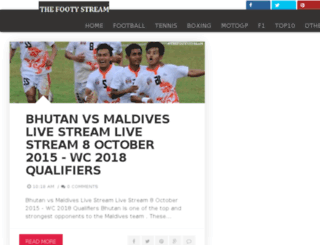 thefootystream.blogspot.com screenshot
