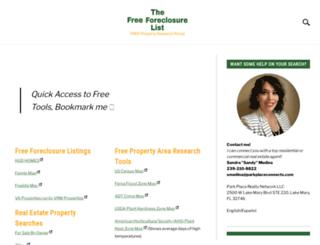 thefreeforeclosurelist.com screenshot