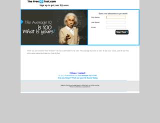 thefreeiqtest.org screenshot