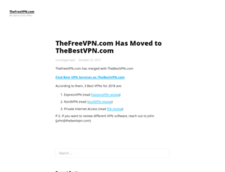 thefreevpn.com screenshot