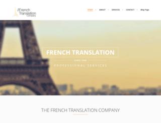 thefrenchtranslationcompany.com screenshot