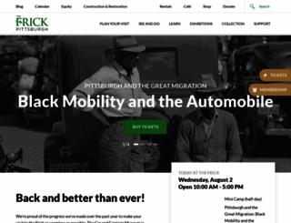 thefrickpittsburgh.org screenshot