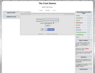 thefrontrunner.pro-forum.co.uk screenshot