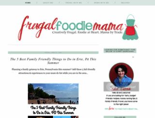 thefrugalfoodiemama.com screenshot