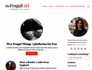 thefrugalgirl.com screenshot