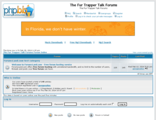thefurtrappertalkforums.forumsland.com screenshot