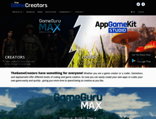 thegamecreators.com screenshot