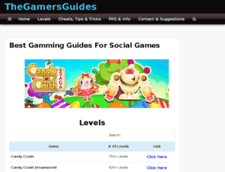 thegamersguides.com screenshot