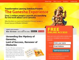 theganeshaexperience.com screenshot