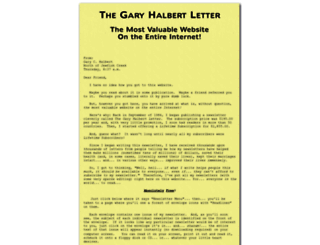 thegaryhalbertletter.com screenshot