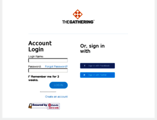 thegathering.z2systems.com screenshot
