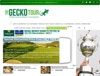 thegeckotour.com screenshot