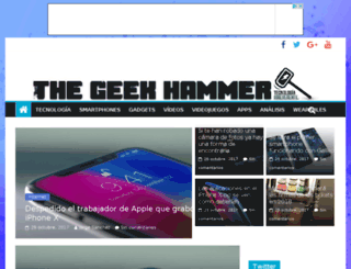 thegeekhammer.com screenshot