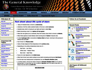 thegeneralknowledge.in screenshot